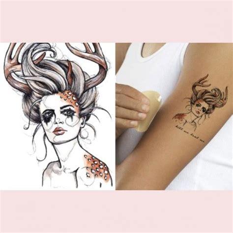 Tete De Cerf Tatouage Tatouage Ephemere Tete De Cerf Femme