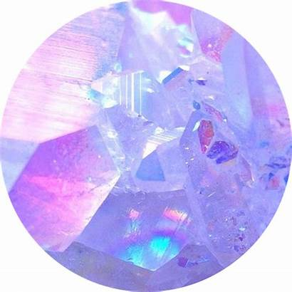 Crystal Icon Aesthetic Purple Pink Circle Gems