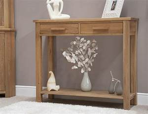 Eton solid oak modern furniture hallway hall console table for Hall consoles furniture
