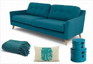 deco bleu canard adoptez cette couleur lumineuse joli With tapis design avec housse canapé bleu canard