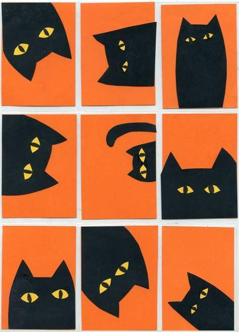 Halloween Art Project Cat Collage  Cat, Halloween Ideas