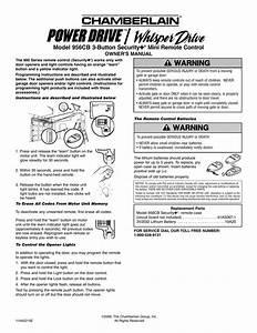 Chamberlain Garage Door Openers Manuals Whisper Drive