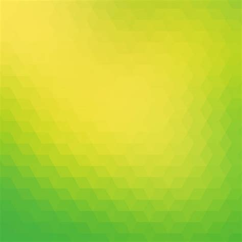 Polygonal Background In Green And Yellow Tones Vector