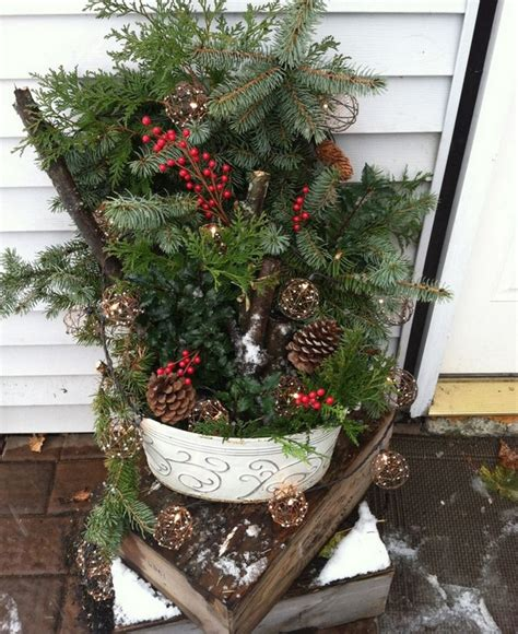 winter outdoor decorating ideas outdoor christmas decoration ideas 30 simple displays