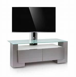 Meuble Avec Support Tv : meuble tv design nun 140h 140 cm meuble tv avec colonne ~ Dailycaller-alerts.com Idées de Décoration