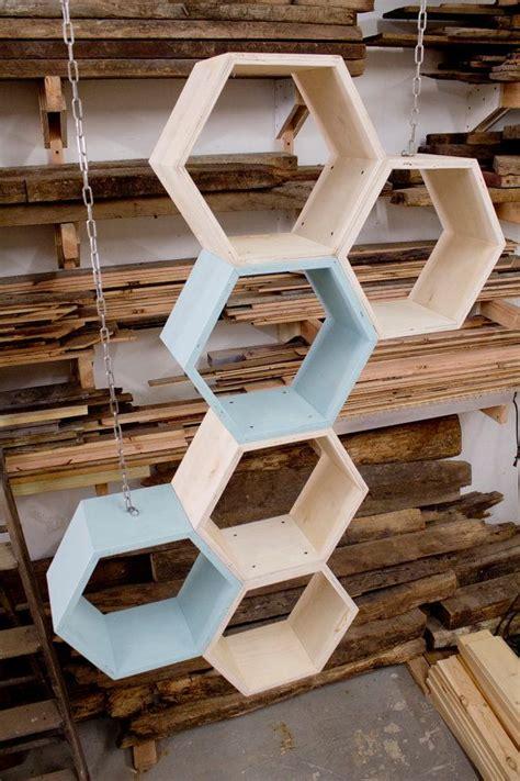 honeycomb shelves shelving unit reclaimed pine