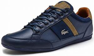 Lacoste Chaymon 117 1 CAM Leather Trainers in Navy Blue ...