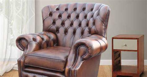 Brown Chesterfield Monks High Back Armchair  Designersofas4u