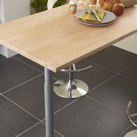 construire un ilot de cuisine plan de travail bois hêtre brut mat l 250 x p 65 cm ep 26
