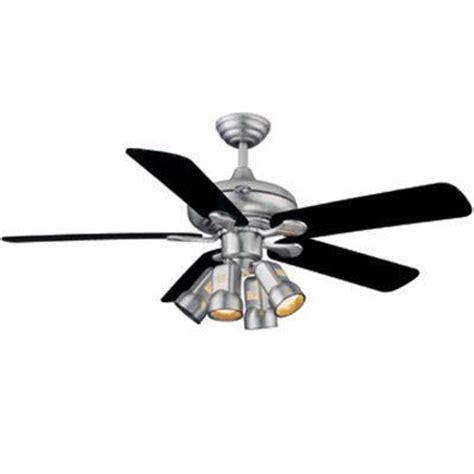 hton bay ceiling fan 52 quot brushed steel finish remote