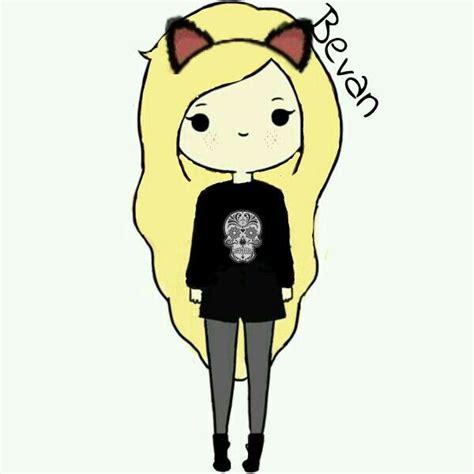 meee edited cute cartoon girl kitty bevan quotes