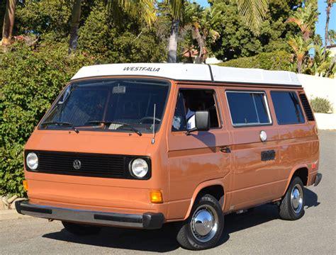 1983 Volkswagen Vanagon Westfalia Pop Top Cer Bring A
