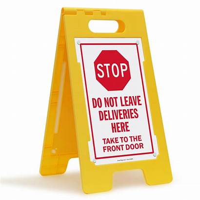 Leave Delivery Package Signs Deliveries Stop X25