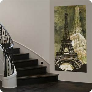 Eiffel tower canvas wall art contemporary entry san for What kind of paint to use on kitchen cabinets for trendy canvas wall art