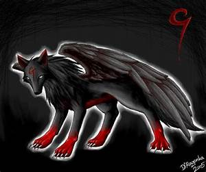 evil wolf with wings - picture by coolbrady34 - DrawingNow