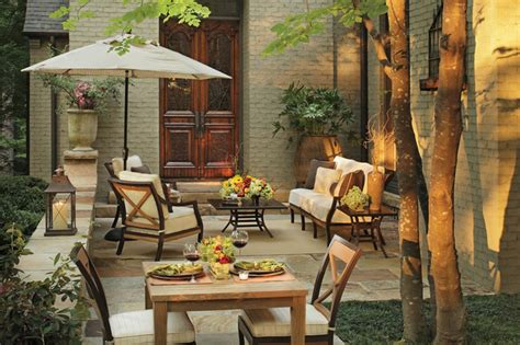 eclectic style with outdoor furniture traditional
