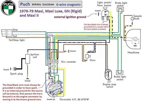Moped Ignition Switch Wiring Diagram by Puch Moped Wiring Diagram Puch Wiring Diagram 1978 79 6