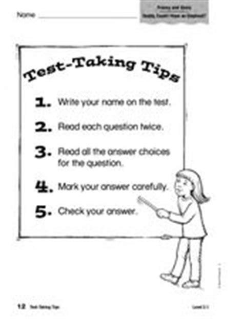 test  tips   grade worksheet lesson planet