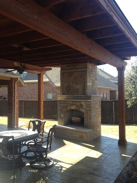 flower mound patio cover sted concrete and