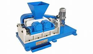 Roll Crusher With Grooved  U0026 Plain Rolls Of 200mm Diameter