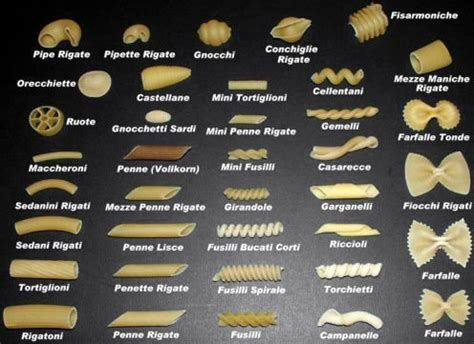 art  great pasta recipes pasta types great pasta