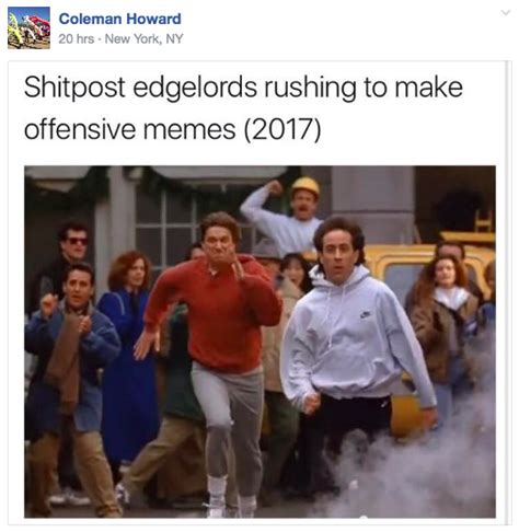 Charlottesville Memes - charlottesville is tearing apart this seinfeld meme facebook group