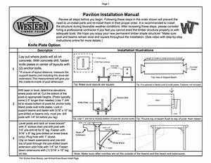 Pavilion Timber Kit Installation Manual