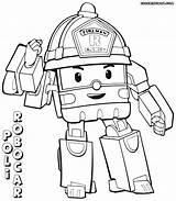 Robocar Poli Coloring Pages Cartoon Printable Hoverboard Roi Robocarpoli Template Transformer Sketch Colorings Print Kerra sketch template