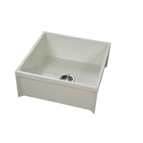 Plastic Mop Sink Home Depot by Fiat 24 In X 24 In X 10 In Modesto Mop Service Basin