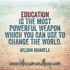 Education Is The Most Powerful Weapon Poster : education is the most powerful weapon which you ~ Markanthonyermac.com Haus und Dekorationen