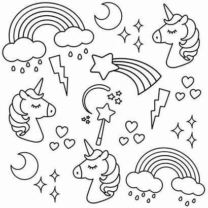 Unicorn Colouring Coloring Printable Pages Unicorns Hard