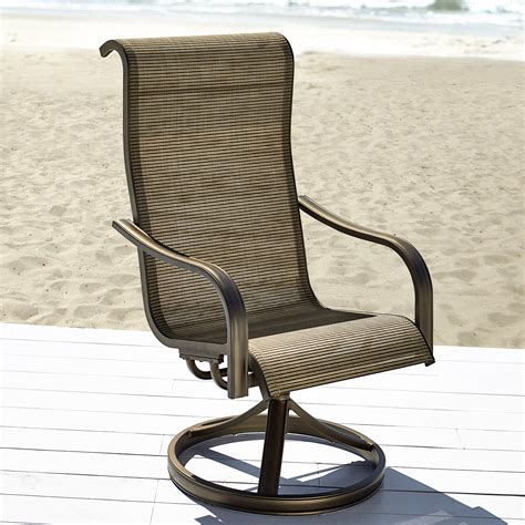 grand harbor edgewater single swivel chair outdoor