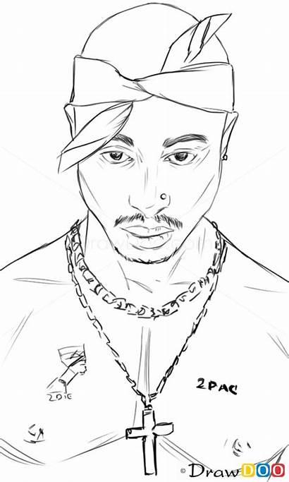 Tupac Drawing Draw Rapper Famous Shakur Singers