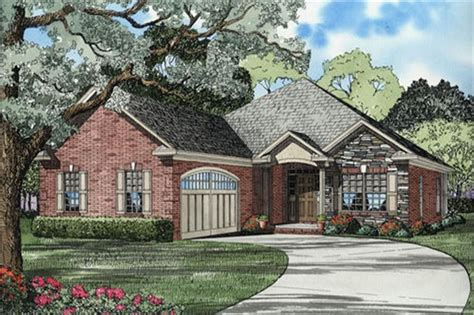 front elevation french country ranch theplancollection house plan french