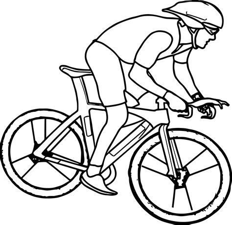 Cycling Bike Coloring Page Wecoloringpagecom