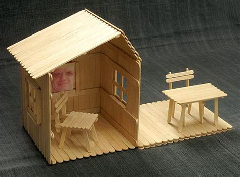 homemade popsicle stick house designs hative