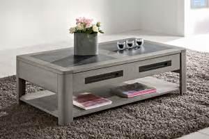 Table Basse Chene Gris : table de salon deauvil bois deco ~ Teatrodelosmanantiales.com Idées de Décoration