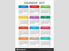 Plantilla calendario 2017 vertical Calendario 2017 en