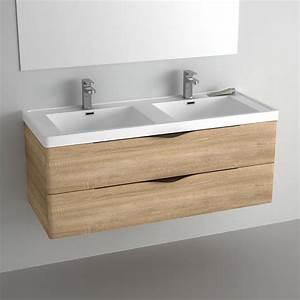 Meuble Vasque 120 : pack promo meuble nature 120 cm miroir robinets bondes ~ Nature-et-papiers.com Idées de Décoration