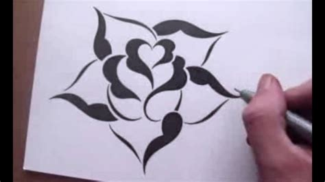 drawing  rose   simple stencil design style youtube