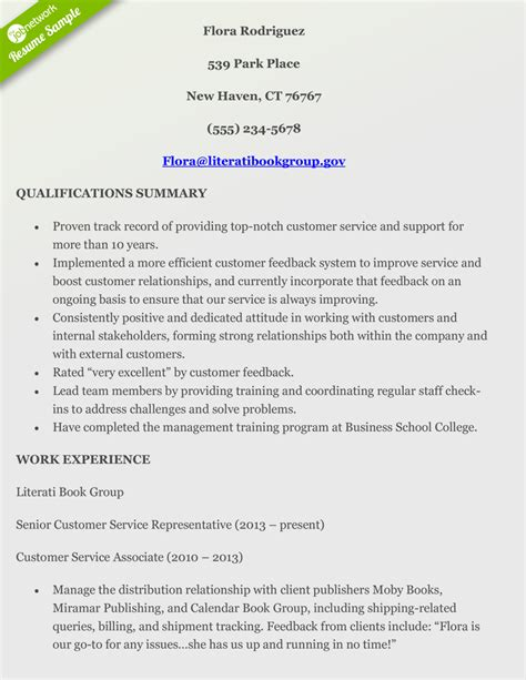 Summary Of Qualifications Customer Service by How To Craft A Customer Service Resume Using Exles