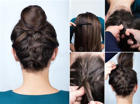 Hairstyle Braid Bun Tutorial Stock Photo How To Do The Hairstyle Of Elsa High Bun Tutorial For Short Hair Small Kid Pictures Inverted Bob Haircuts Hairstyles Oval Shaped Faces 2016 Beautiful Brides Under Braid With Weave Cute Easy Down