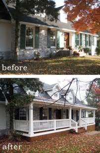 Home Design Before And After Before And After 7 Sensational Front Porch Additions Home Decorating Diy