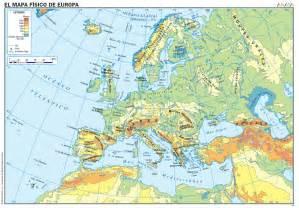 Mapa Fisico De Europa