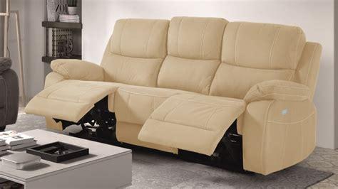 canapé relax 3 places tissu canapé de relaxation 3 places moderne en tissu