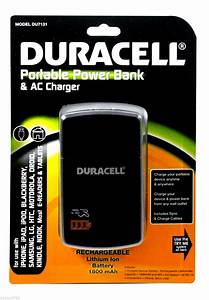 Duracell Portable Power Bank Backup Battery Samsung Cell