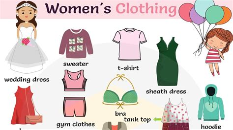 Women's Clothing Vocabulary In