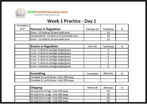 golf practice schedule template join now practice worksheet