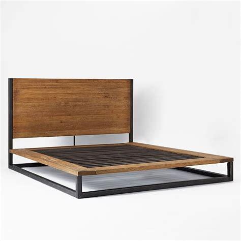 platform bed frame industrial platform bed west elm Industrial