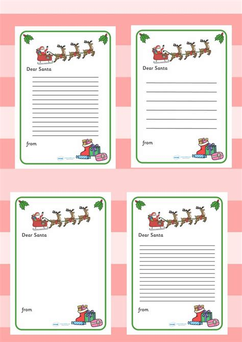 twinkl resources letter  santa printable resources